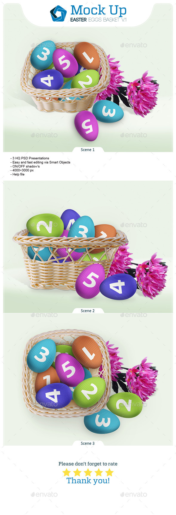 Easter Eggs Basket V.1 - Miscellaneous Print