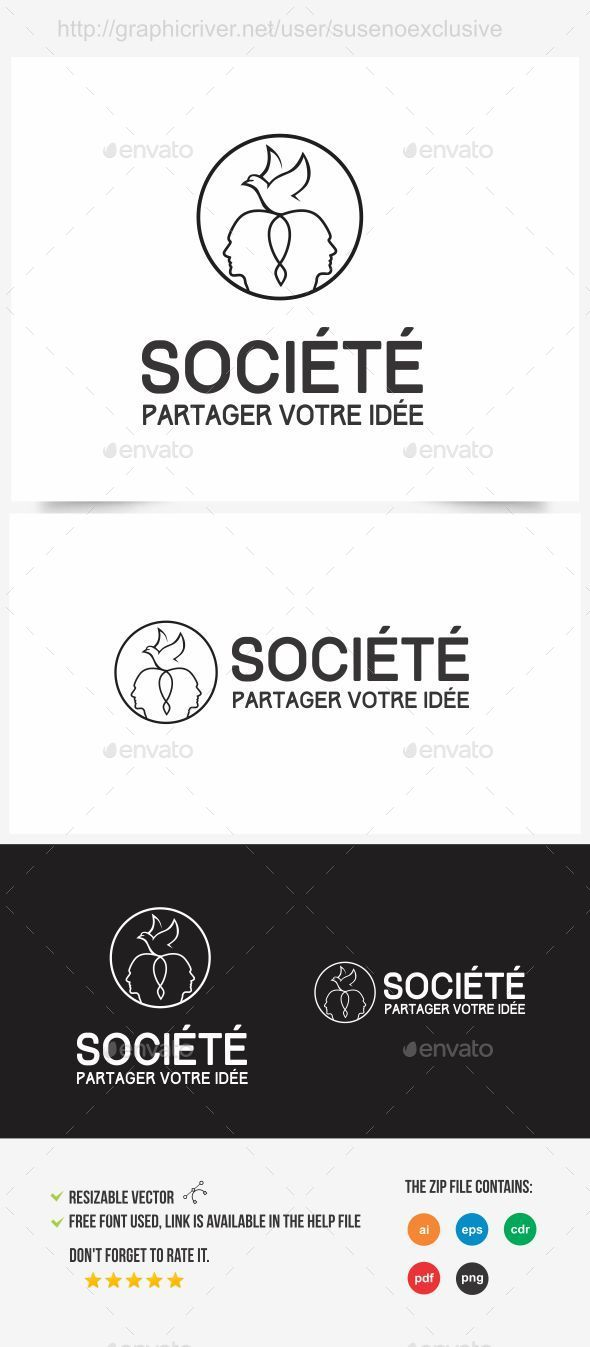 Societe Logo - Humans Logo Templates
