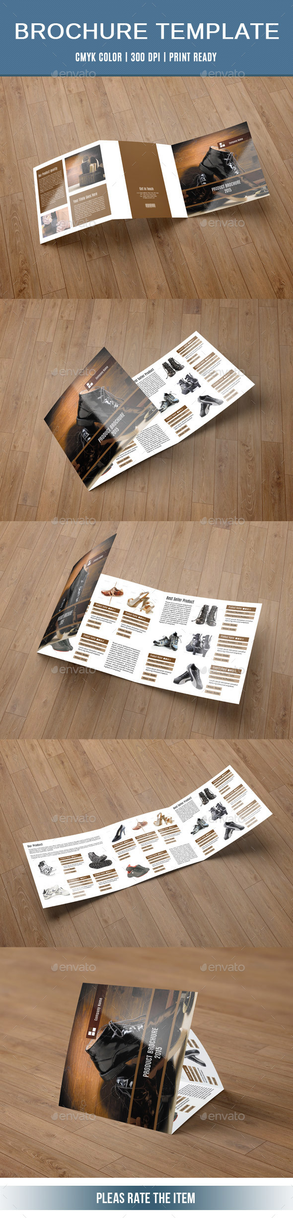 Square Trifold for Product Display-V61 - Corporate Brochures