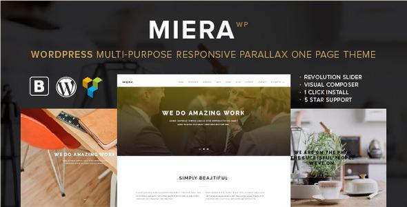 MIERA - Multi-Purpose Responsive Parallax One Page