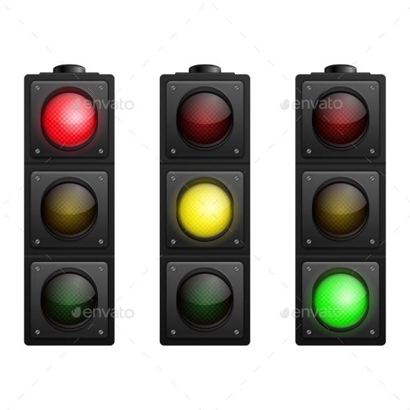 Set of Traffic Lights - Decorative Symbols Decorative