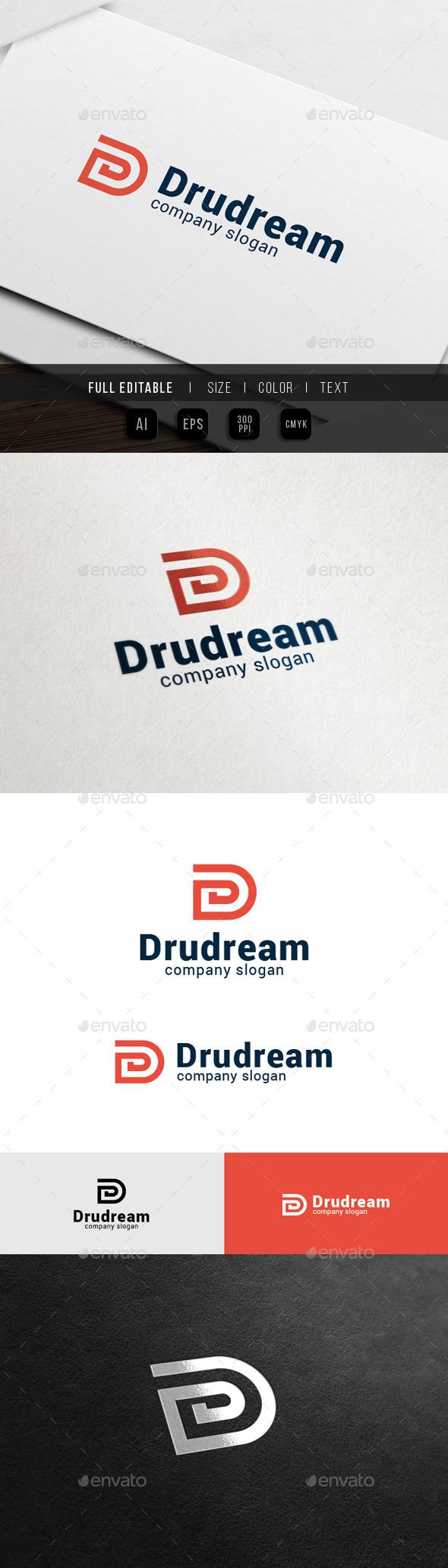Digital Dream - Letter D - Letters Logo Templates