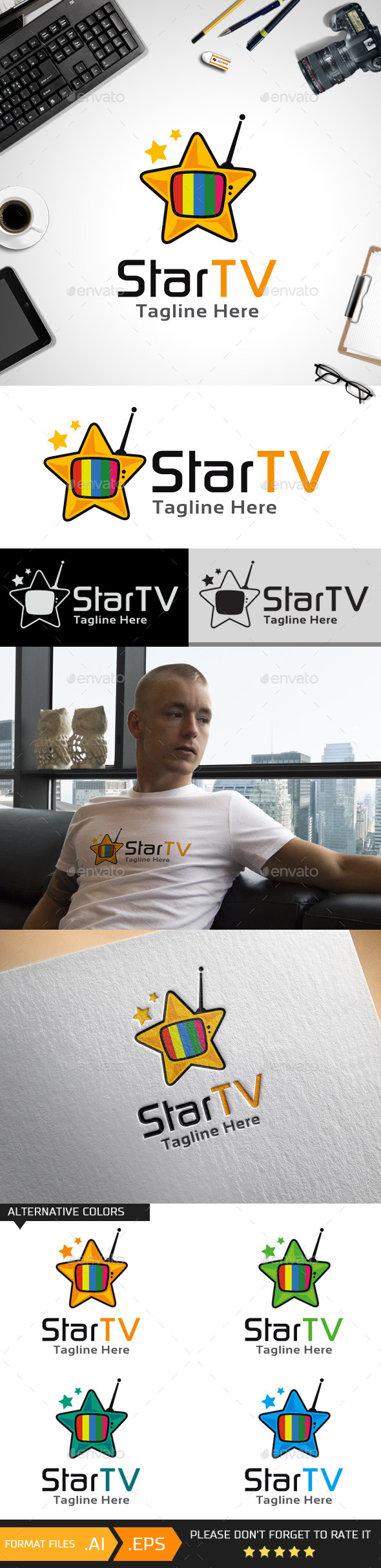 Star TV Logo Template - Objects Logo Templates