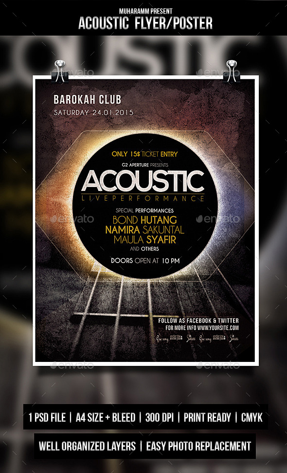 Acoustic Event Flayer / Poster - Events Flyers