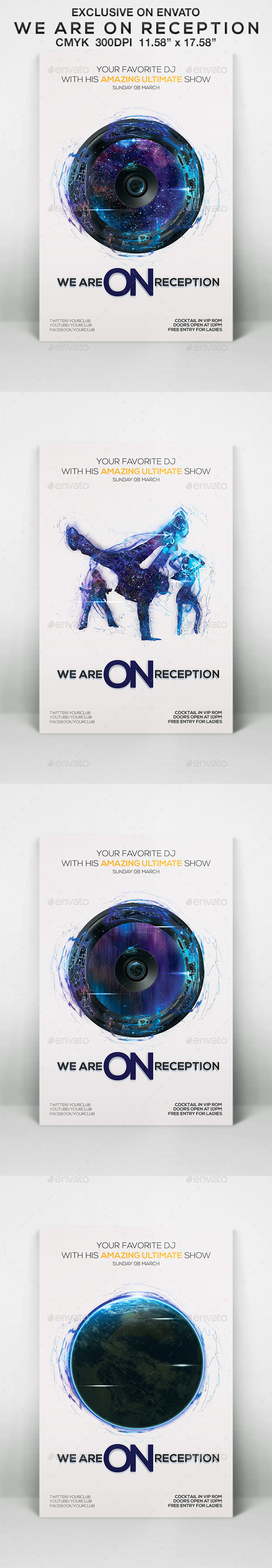 We Are On Reception - Flyers Print Templates