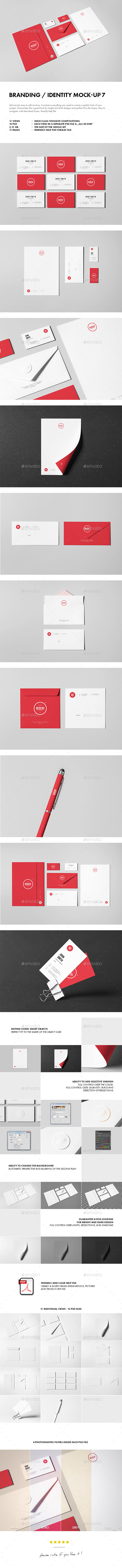 Branding / Identity Mock-up 7 - Stationery Print