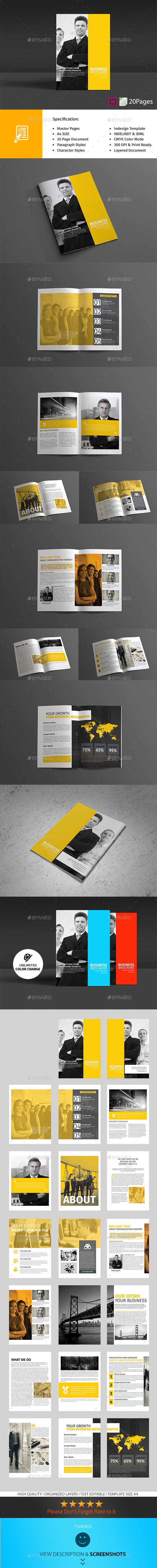 Business Brochure 20 Pages - Corporate Brochures