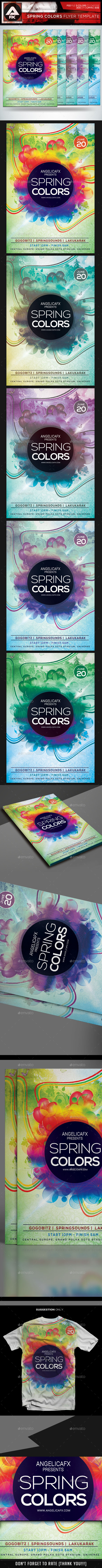 Spring Colors Flyer Template - Events Flyers