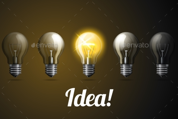 Lightbulbs  - Business Conceptual