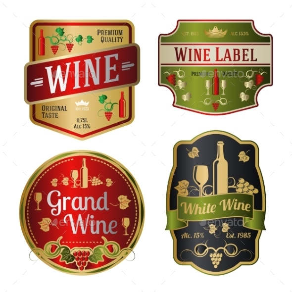 Wine Labels  - Decorative Vectors