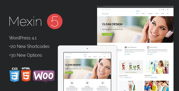 Mexin – Premium Multipurpose Responsive Theme