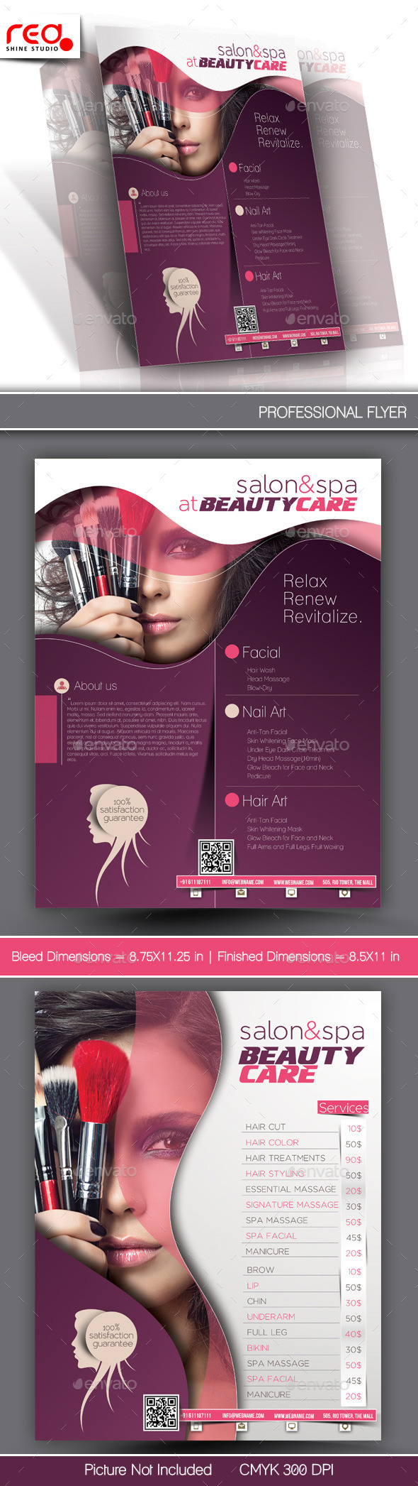 Beauty Care Flyer & Poster Template - Commerce Flyers