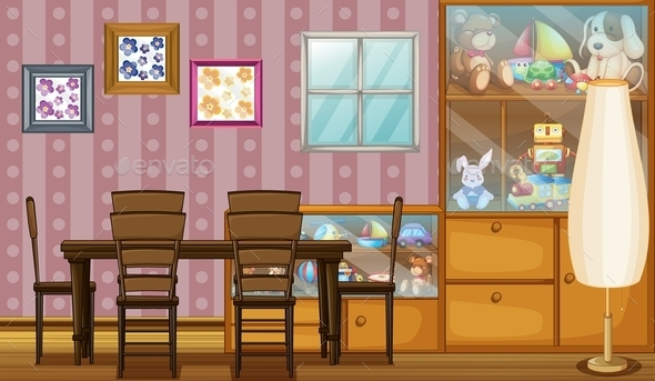 House with Toys  - Decorative Vectors