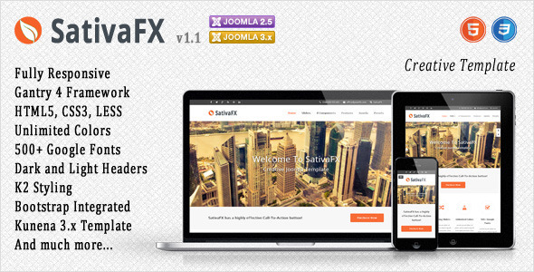 SativaFX – Creative Joomla Template