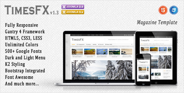 TimesFX – Responsive Joomla Template