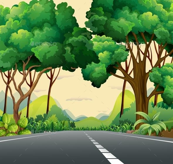 A Narrow Road - Landscapes Nature