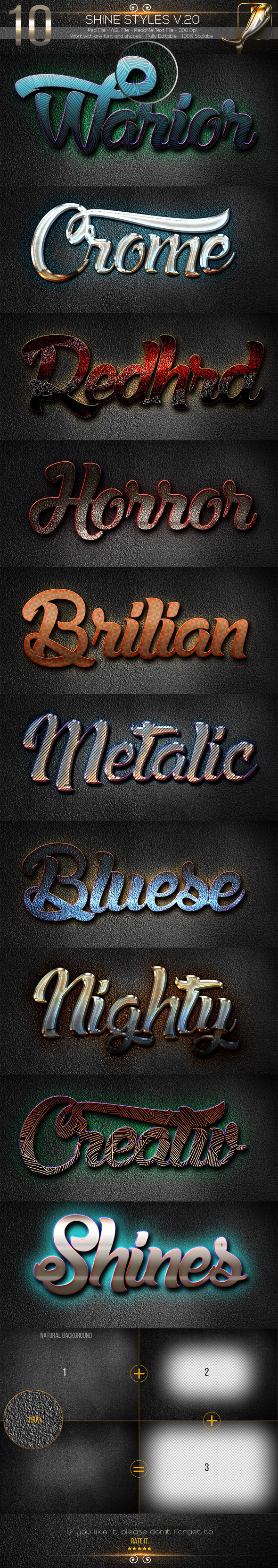 10 Shine Styles V.20 - Text Effects Styles