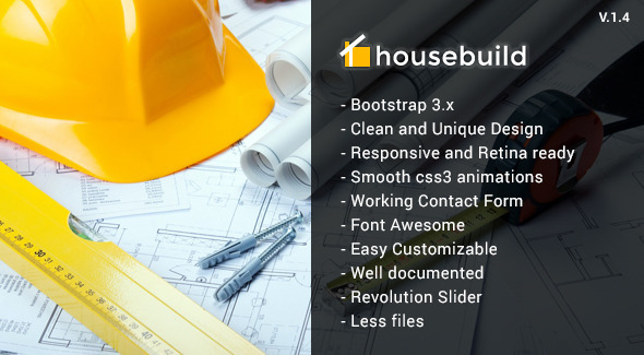 Housebuild – HTML Construction Business Template