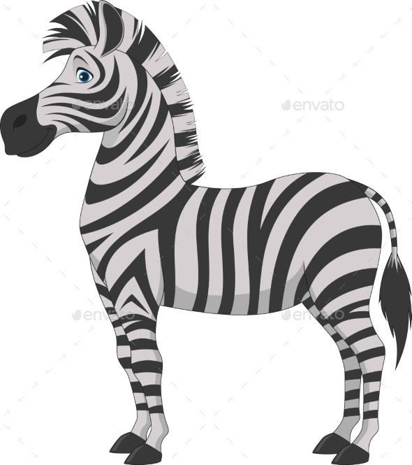 Zebra Cartoon - Animals Characters