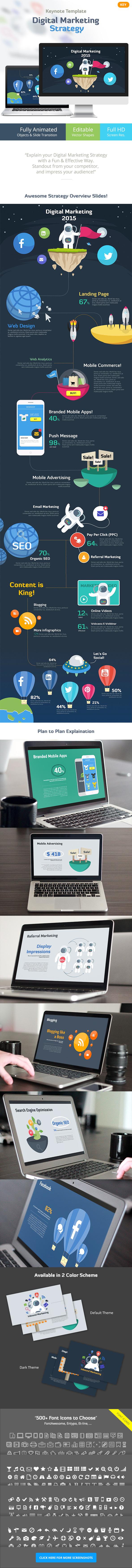 Digital Marketing Strategy - Keynote Template - Business Keynote Templates