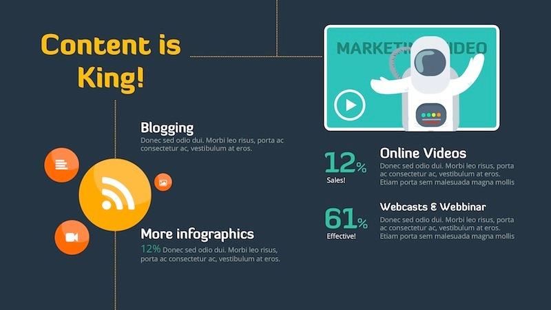 digital marketing strategy - keynote templateslidehack, Presentation templates