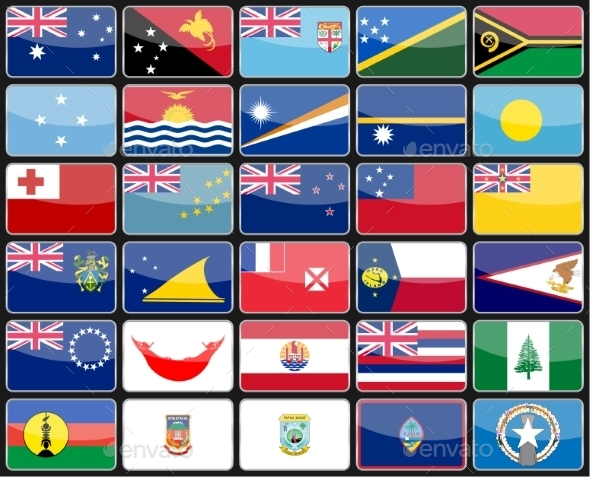 Flags of the Countries - Travel Conceptual