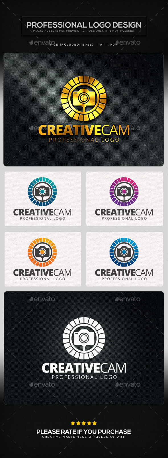 Creative Cam V.2 Logo Template - Objects Logo Templates