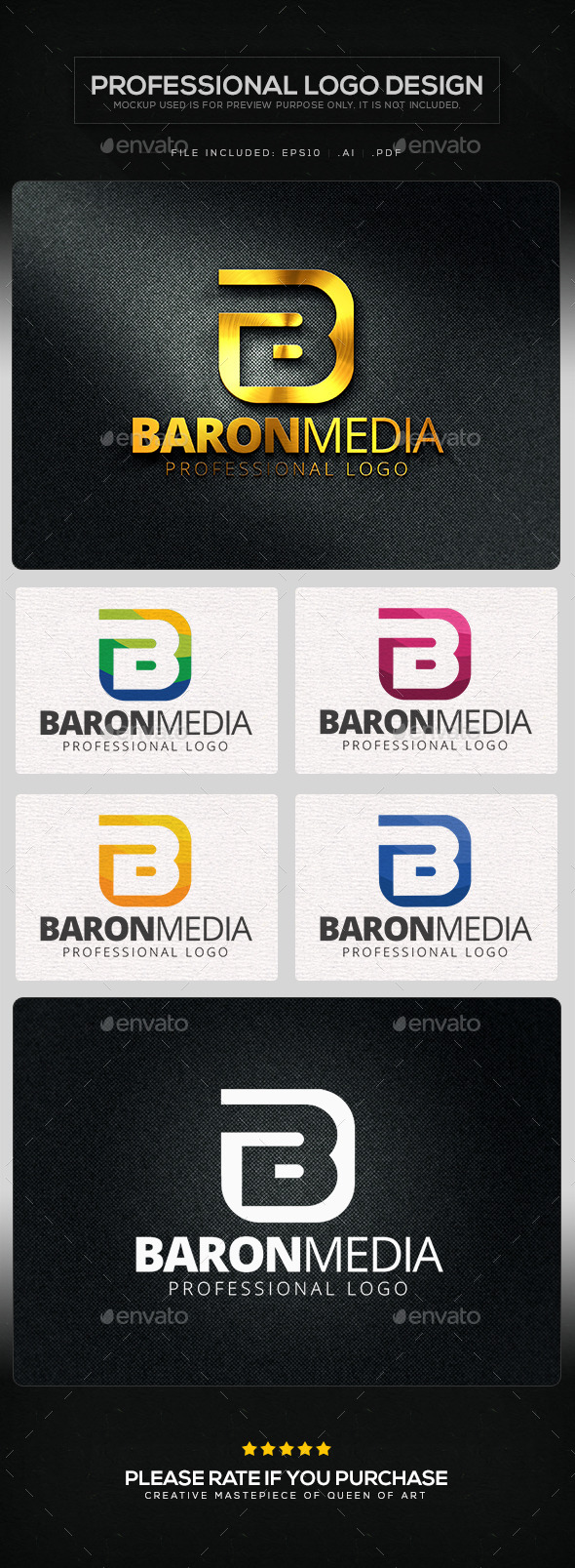 Baron Media Logo Template - Letters Logo Templates