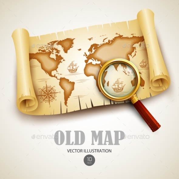 Old Map - Objects Vectors