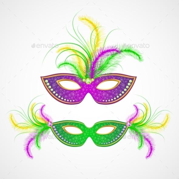 Mardi Gras Carnival Mask - Miscellaneous Seasons/Holidays
