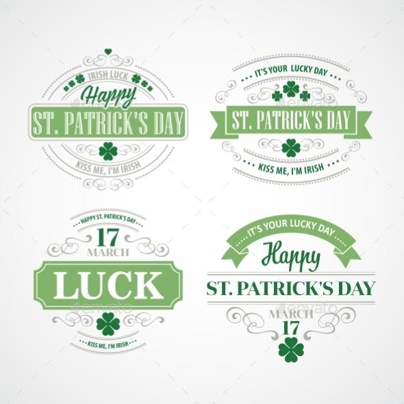 Typography St. Patricks Day - Miscellaneous Seasons/Holidays
