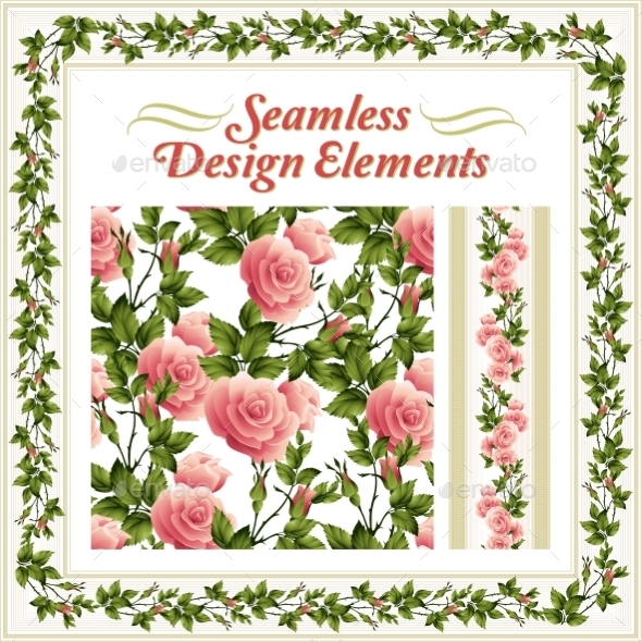 Seamless Rose Pattern - Backgrounds Decorative