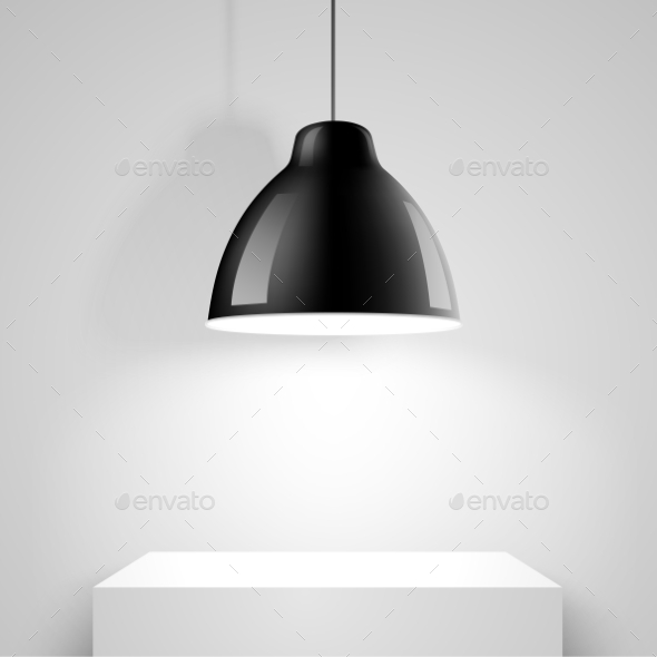 Black Ceiling Lamp - Man-made Objects Objects