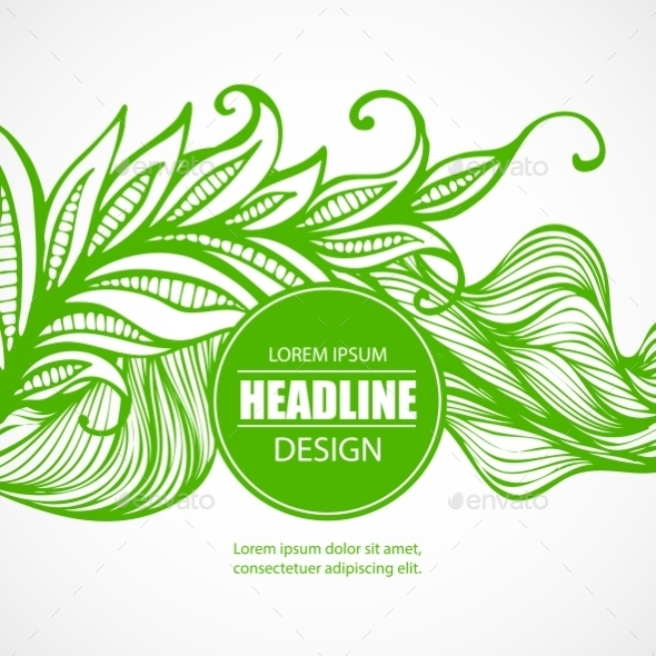 Feathers and Leaves - Decorative Vectors