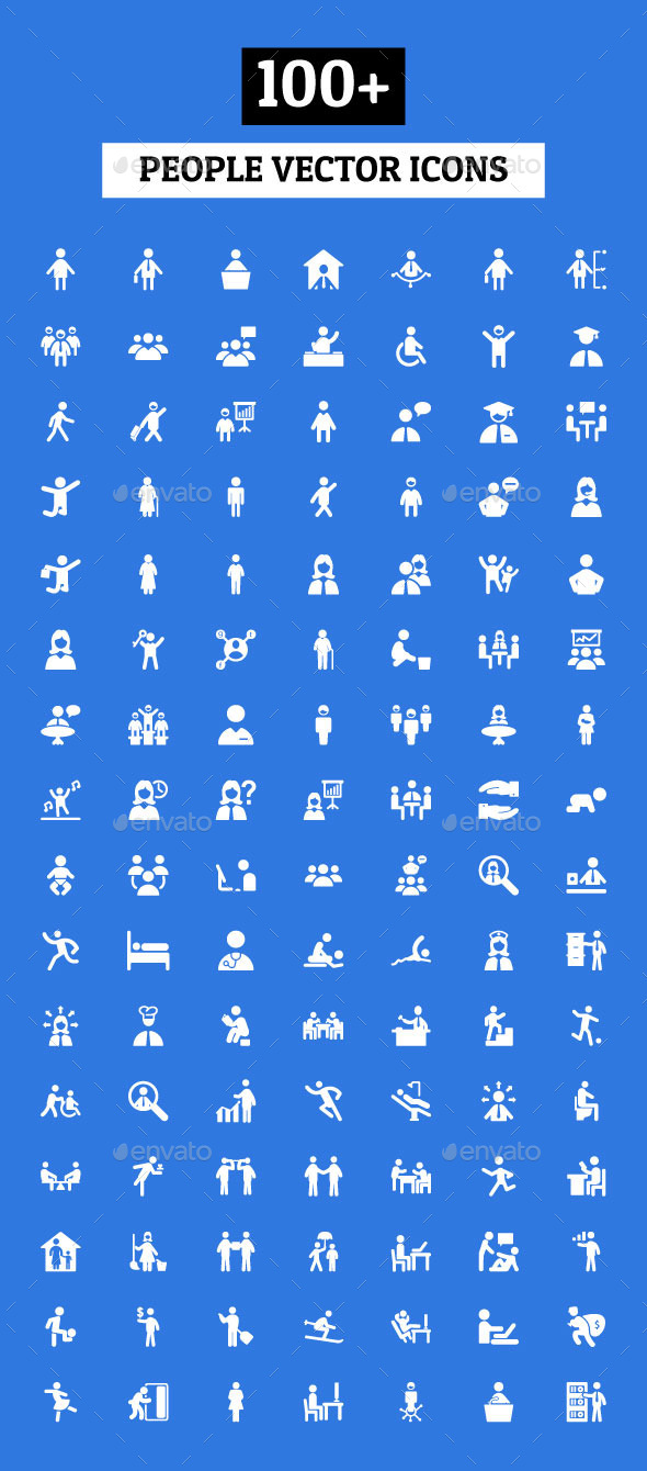 100+ People Vector Icons - People Characters