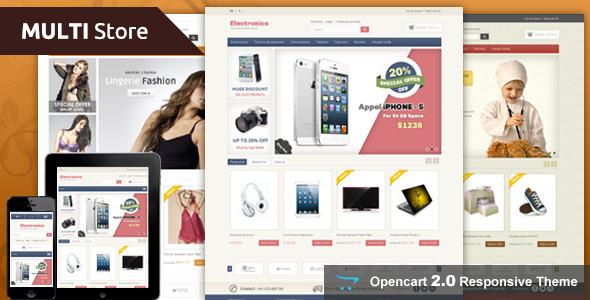 Multi Store – Opencart Responsive Theme