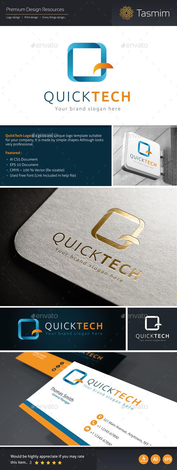 QuickTech Logo Template - Letters Logo Templates
