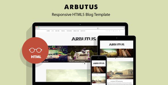 Arbutus - Responsive HTML5 Blog Template by themelog
