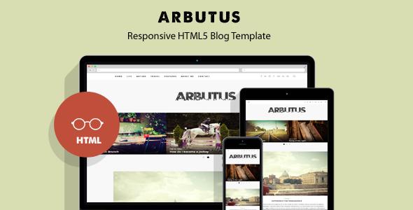 Arbutus – Responsive HTML5 Blog Template