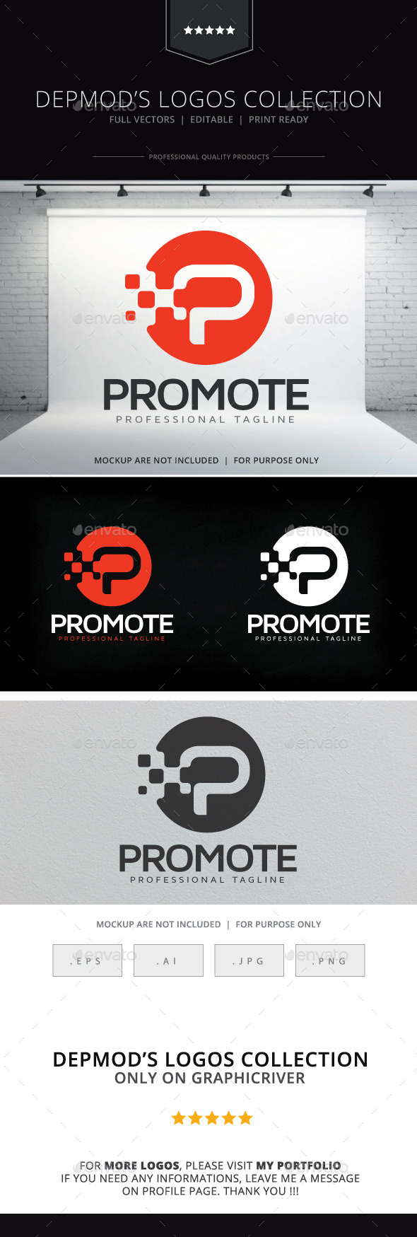Promote Logo - Letters Logo Templates
