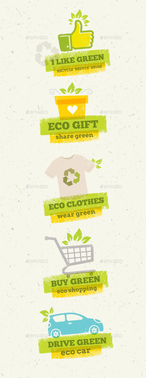 Eco Green Design Elements - Organic Objects Objects