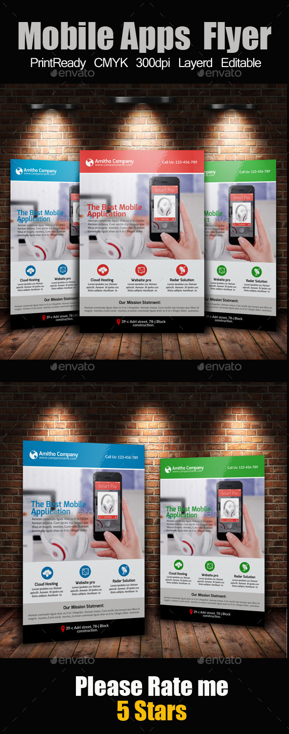 Mobile Apps Promotion Flyer Template - Commerce Flyers