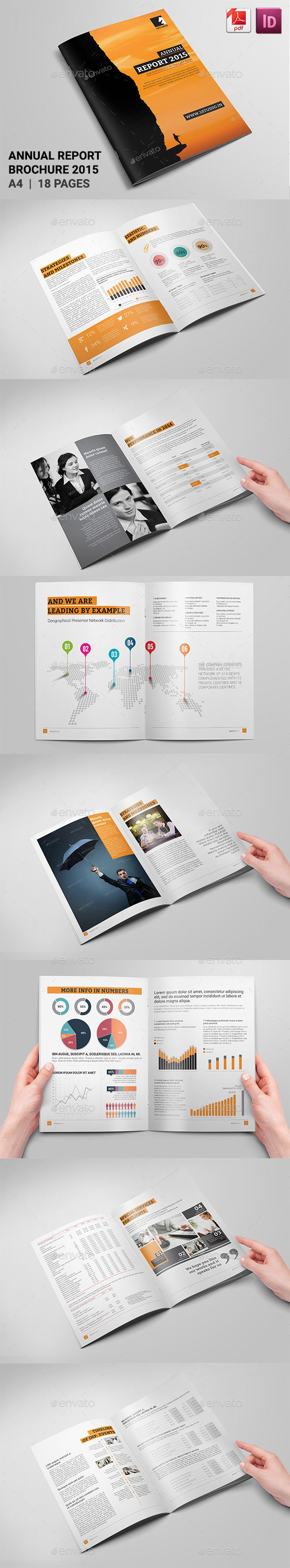 Corporate Annual Report - Brochures Print Templates