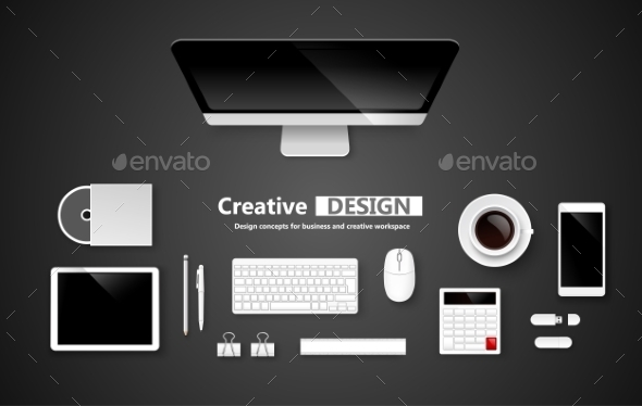 Creative Design Workspace - Computers Technology