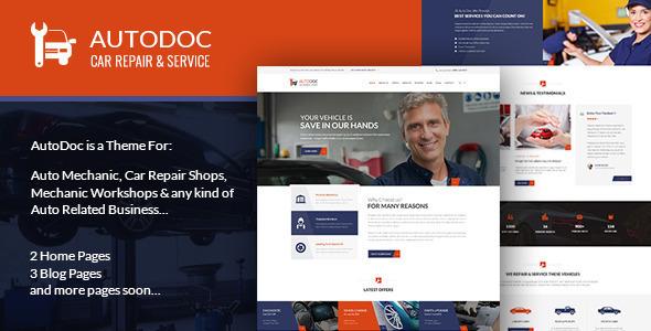 AutoDoc - PSD Template - Retail PSD Templates