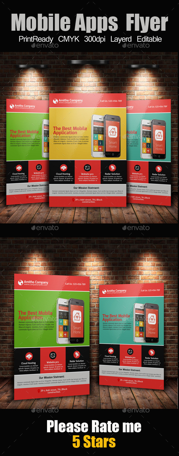 Mobile Apps Promotion Flyer Template - Corporate Flyers