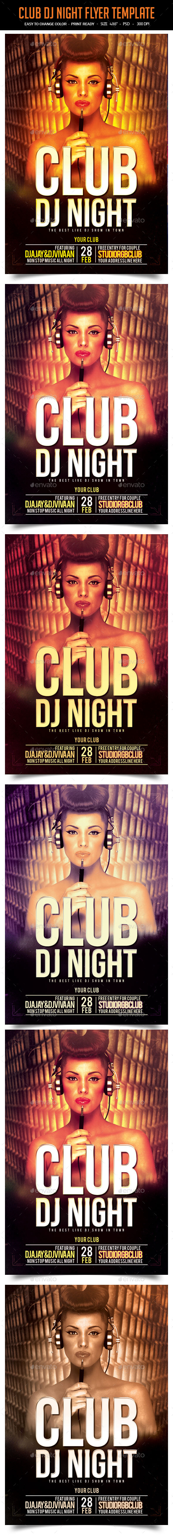 Club Dj Night Flyer Template - Clubs & Parties Events