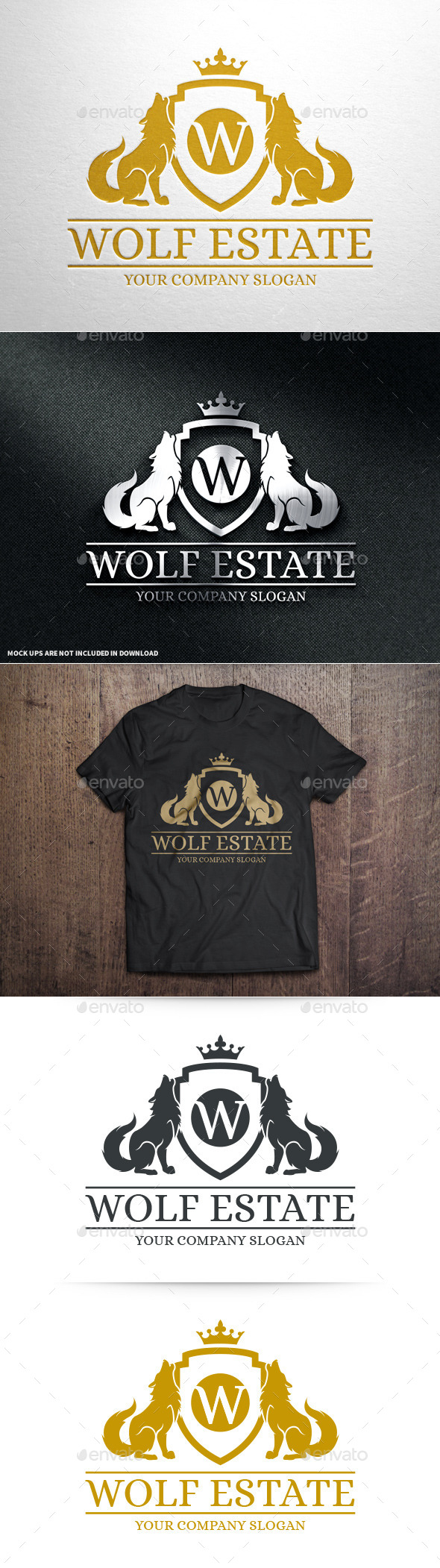 Wolf Estate Logo Template - Crests Logo Templates