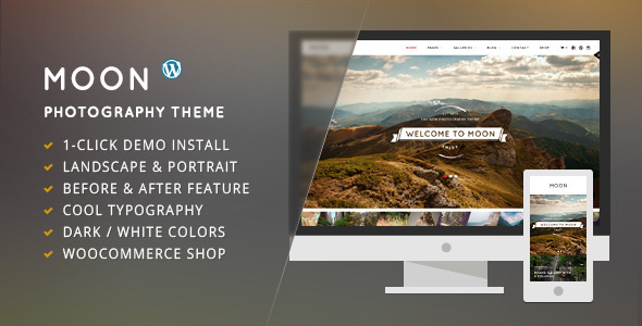 Moon – WordPress Theme for Photographers
