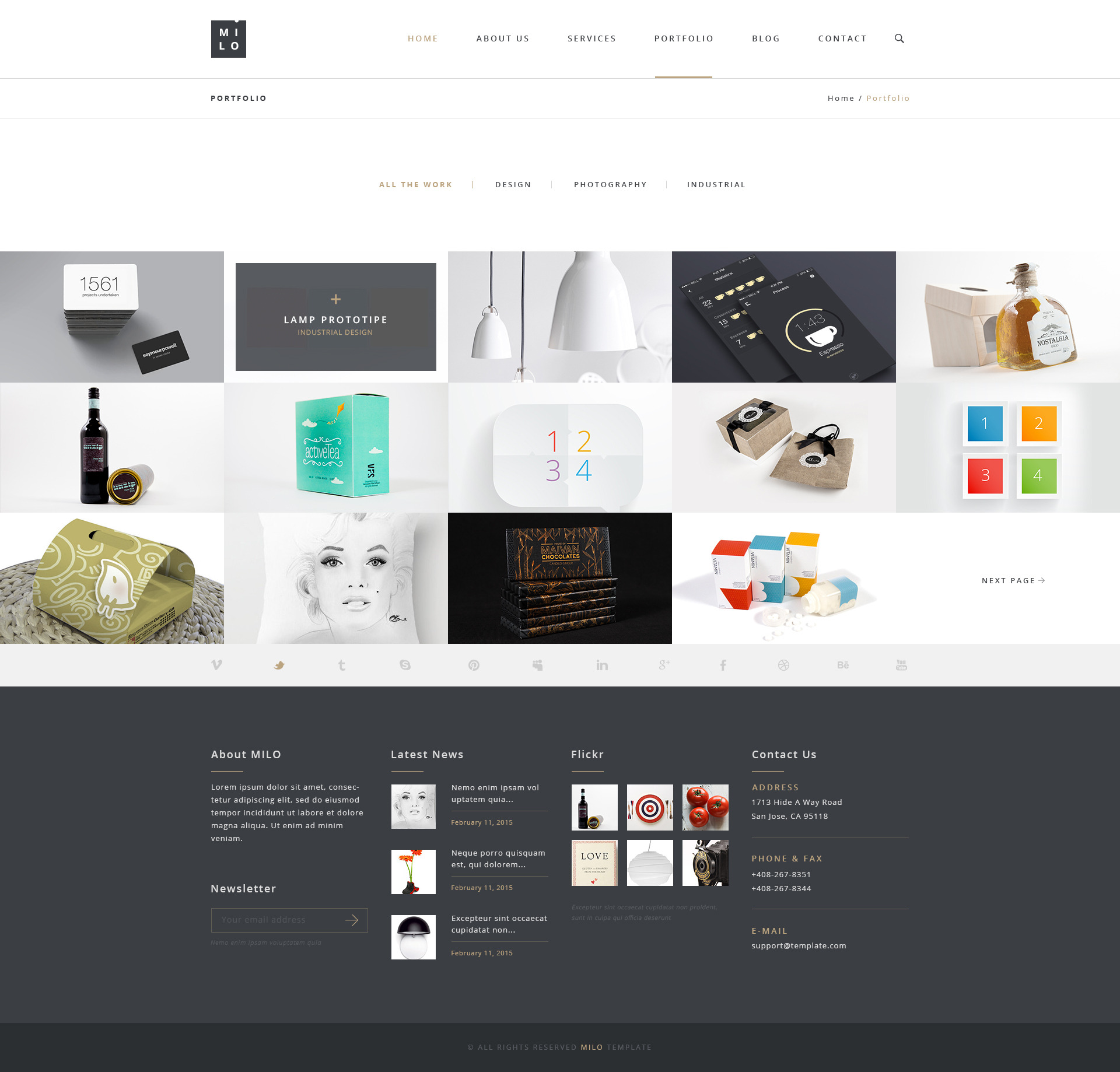 Milo – Clean & Modern Multipurpose PSD Template by milothemes ...